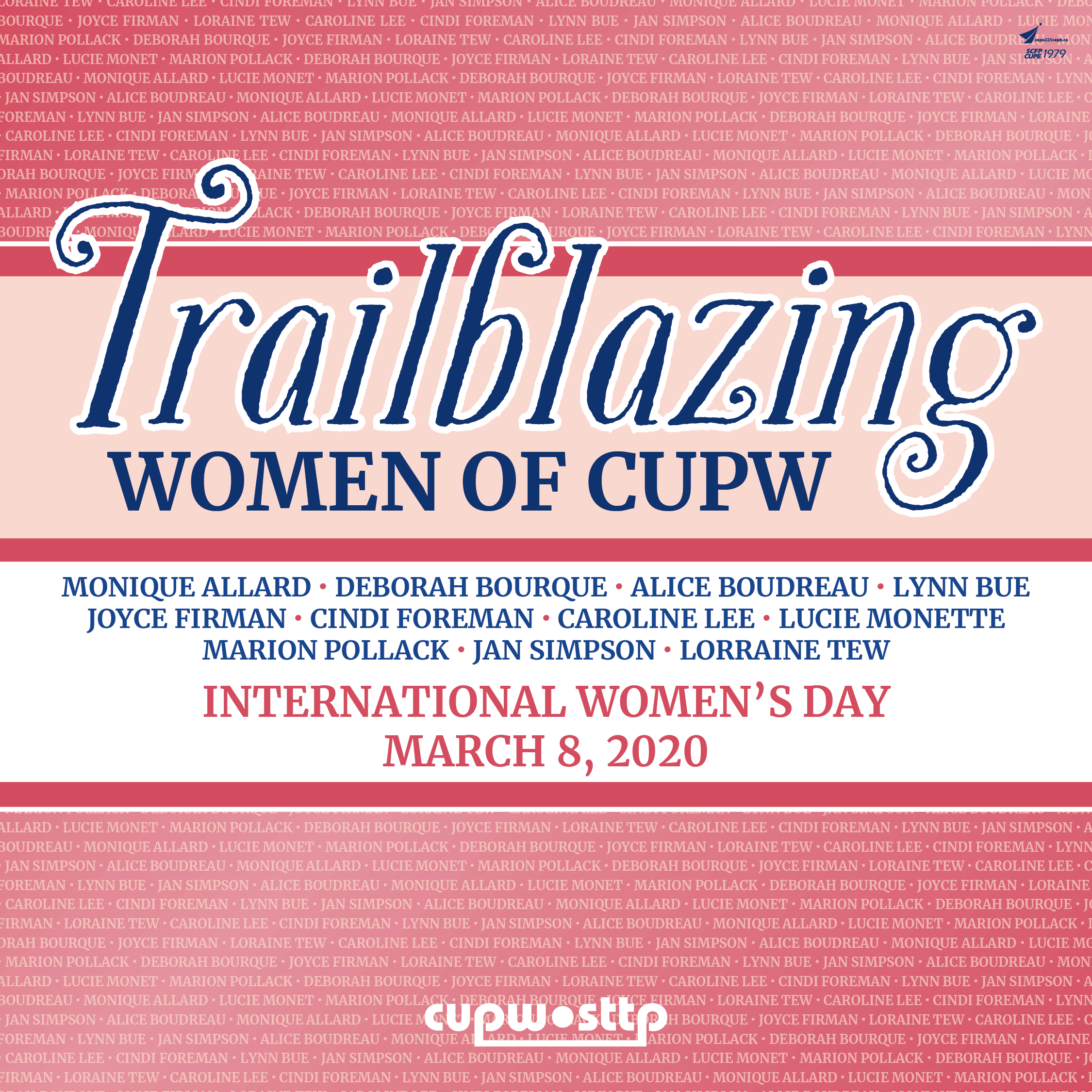 The National Women's committee is launching a campaign to recognize and show gratitude to some of the trailblazing women whose expression of their feminism and their trade unionism have made a lasting impact on our union.