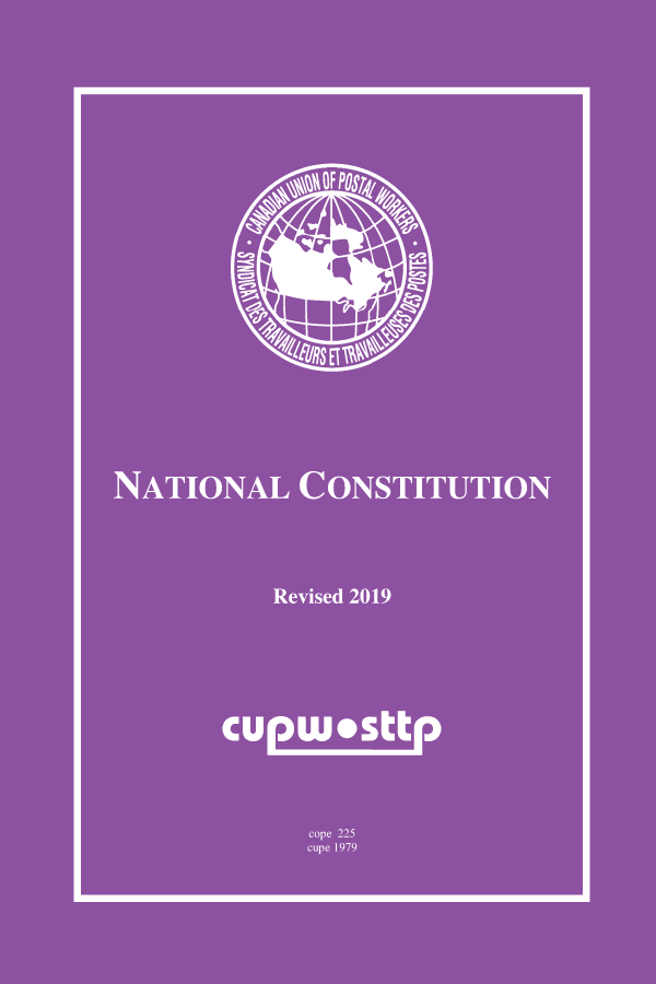 CUPW - National Constitution (Revised 2015)
