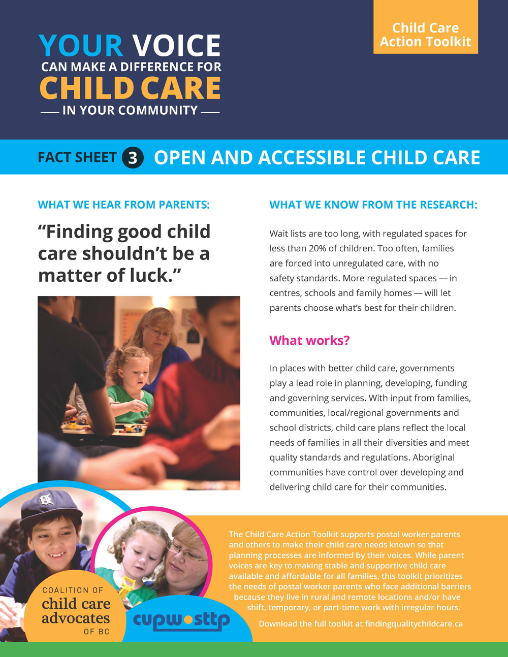 Fact Sheet 3: Open and Accessible Child Care