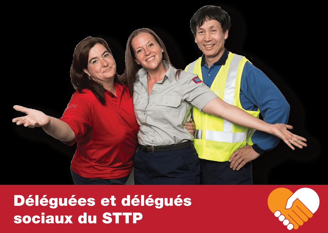 Déléguées et déléguéssociaux du STTP